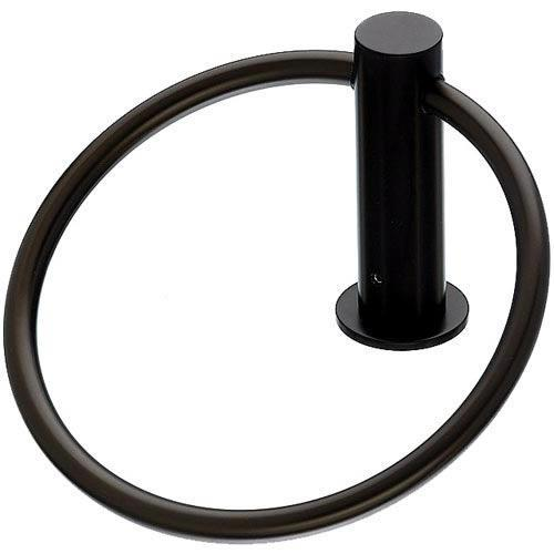 Top Knobs T-HOP5BLK Hopewell - Bathroom Flat Black Towel Ring - Knob Depot