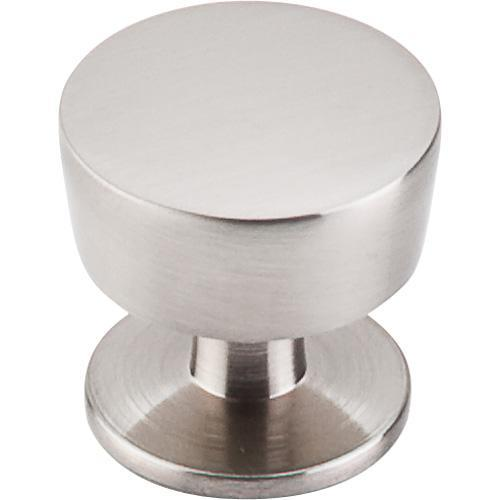 Top Knobs T-M1122 Nouveau III Brushed Satin Nickel Round Knob - KnobDepot.com