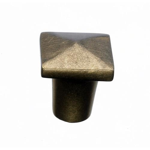 Top Knobs T-M1506 Aspen Light Bronze Square Knob - KnobDepot.com