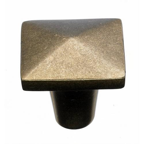 Top Knobs T-M1516 Aspen Light Bronze  Square Knob - KnobDepot.com