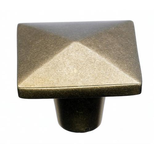 Top Knobs T-M1521 Aspen Light Bronze Square Knob - Knob Depot