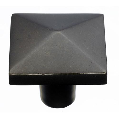 Top Knobs T-M1522 Aspen Medium Bronze Square Knob - KnobDepot.com