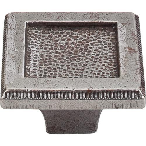 Top Knobs T-M1819 Britannia Cast Iron Square Knob - KnobDepot.com