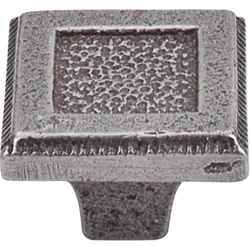 Top Knobs T-M1820 Britannia Cast Iron Square Knob - Knob Depot