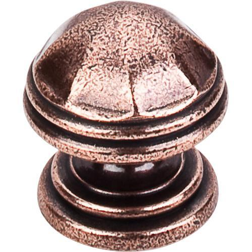 Top Knobs T-M23 Britannia Old English Copper Round Knob - KnobDepot.com