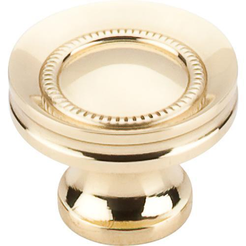 Top Knobs T-M290 Somerset II Polished Brass Round Knob - Knob Depot