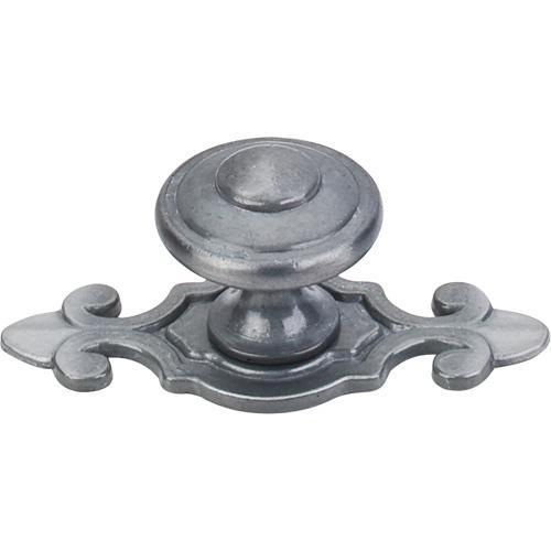 Top Knobs T-M30 Britannia Pewter Light Knob with BackPlate - Knob Depot