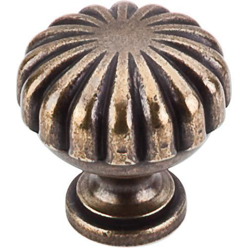 Top Knobs T-M321 Somerset II German Bronze Round Knob - KnobDepot.com
