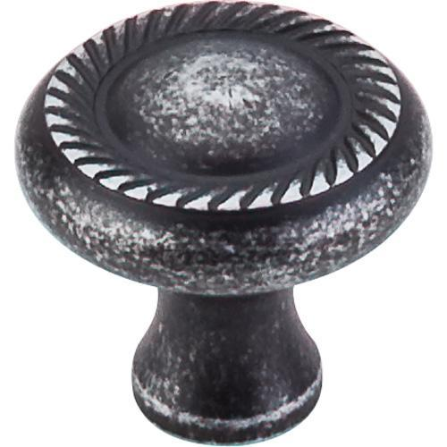 Top Knobs T-M327 Somerset II Black Iron Round Knob - Knob Depot