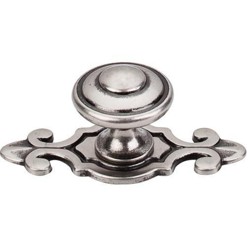 Top Knobs T-M464 Britannia Antique Pewter Knob with BackPlate - Knob Depot