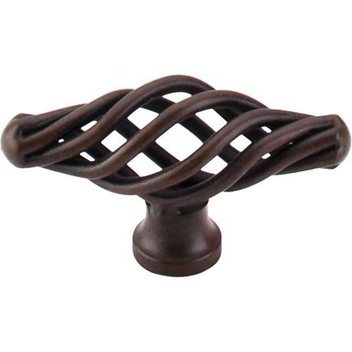 Top Knobs T-M618 Normandy Patina Rouge Bird Cage Elongated Knob - KnobDepot.com