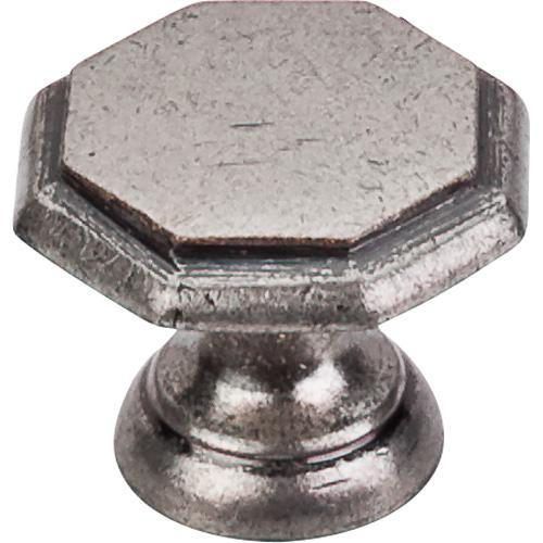 Top Knobs T-M6 Britannia Antique Pewter Octagon Knob - Knob Depot