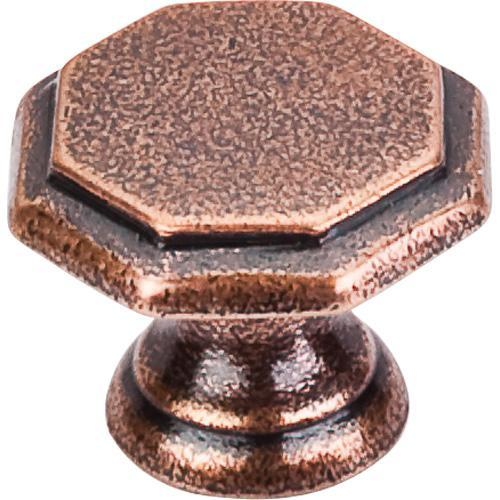 Top Knobs T-M7 Britannia Old English Copper Octagon Knob - KnobDepot.com
