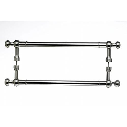 Top Knobs T-M830-12pair Somerset - Back to Back Pulls Satin Nickel  Back to Back Door Pull - KnobDepot.com