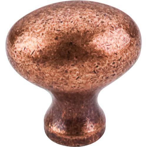 Top Knobs T-M986 Somerset II Old English Copper Oval Knob - Knob Depot