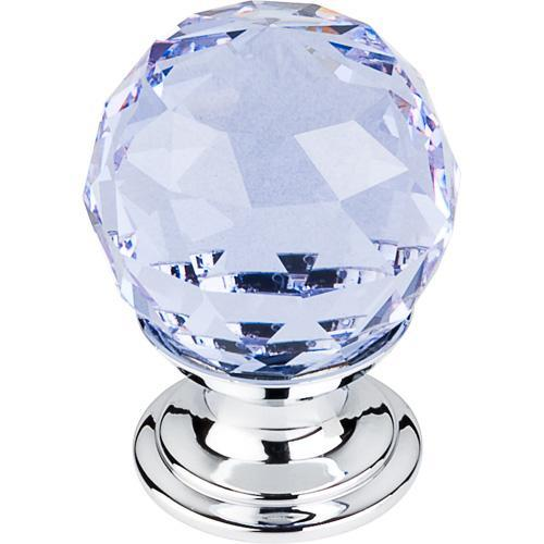 Top Knobs T-TK113PC Crystal Crystal & Polished Chrome Round Knob - Knob Depot