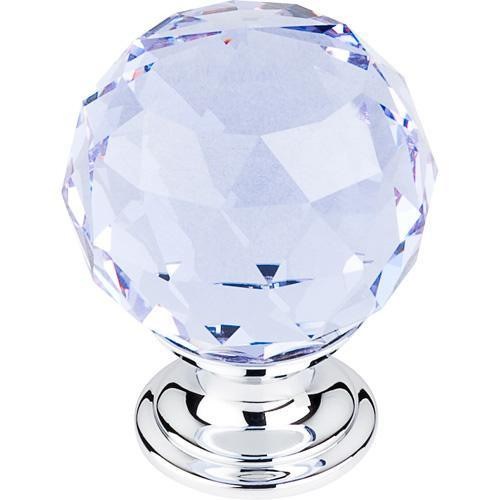 Top Knobs T-TK114PC Crystal Crystal & Polished Chrome Round Knob - KnobDepot.com
