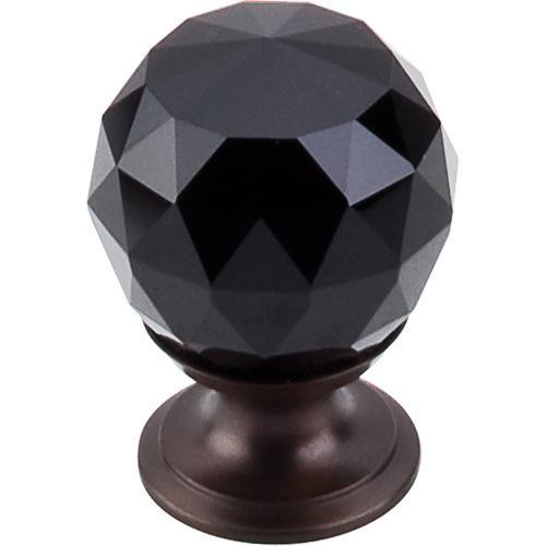 Top Knobs T-TK115ORB Crystal Crystal & Oil Rubbed Bronze Round Knob - Knob Depot