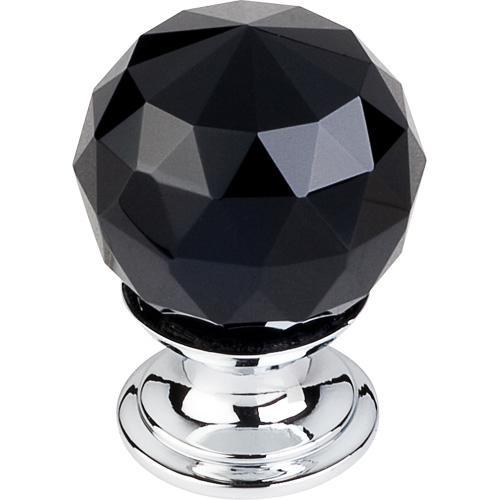 Top Knobs T-TK115PC Crystal Crystal & Polished Chrome Round Knob - KnobDepot.com