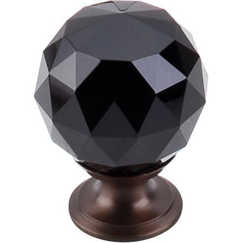 Top Knobs T-TK116ORB Crystal Crystal & Oil Rubbed Bronze Round Knob - Knob Depot