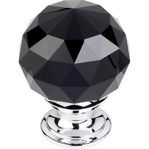 Top Knobs T-TK116PC Crystal Crystal & Polished Chrome Round Knob - Knob Depot