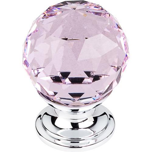 Top Knobs T-TK117PC Crystal Crystal & Polished Chrome Round Knob - Knob Depot