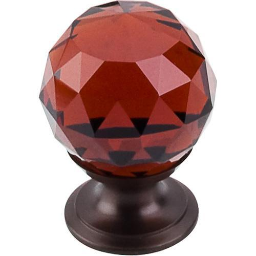 Top Knobs T-TK121ORB Crystal Crystal & Oil Rubbed Bronze Round Knob - Knob Depot
