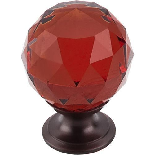 Top Knobs T-TK122ORB Crystal Crystal & Oil Rubbed Bronze Round Knob - Knob Depot