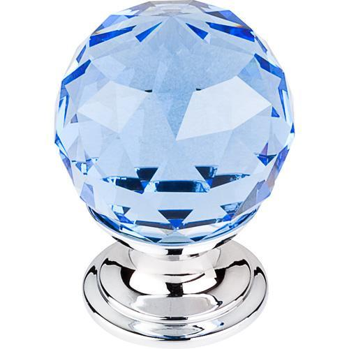 Top Knobs T-TK123PC Crystal Crystal & Polished Chrome Round Knob - KnobDepot.com