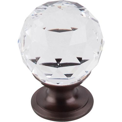 Top Knobs T-TK125ORB Crystal Crystal & Oil Rubbed Bronze Round Knob - Knob Depot