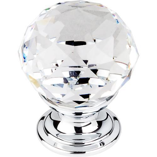 Top Knobs T-TK125PC Crystal Polished Crome/Crystal Round Knob - Knob Depot
