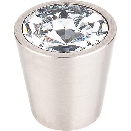 Top Knobs T-TK135BSN Crystal Brushed Satin Nickel Round Knob - KnobDepot.com
