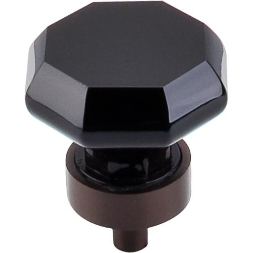 Top Knobs T-TK137ORB Crystal Crystal & Oil Rubbed Bronze Octagon Knob - Knob Depot