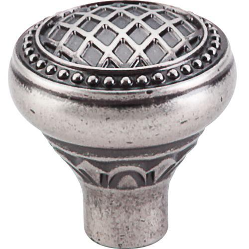 Top Knobs T-TK173PTA Trevi Pewter Antique Round Knob - Knob Depot