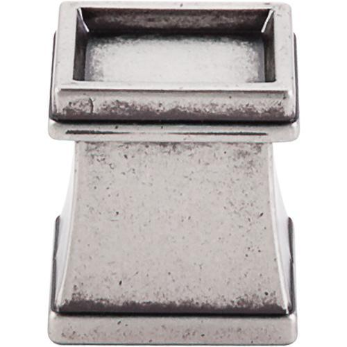 Top Knobs T-TK186PTA Great Wall Pewter Antique Square Knob - Knob Depot