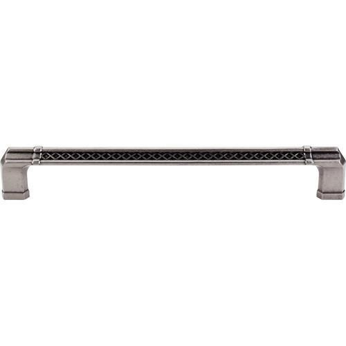 Top Knobs T-TK208PTA Tower Bridge - Appliance Pulls Pewter Antique Appliance Pull - KnobDepot.com