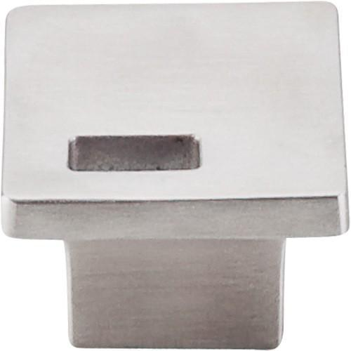 Top Knobs T-TK269SS Sanctuary II Brushed Stainless Steel Square Knob - Knob Depot