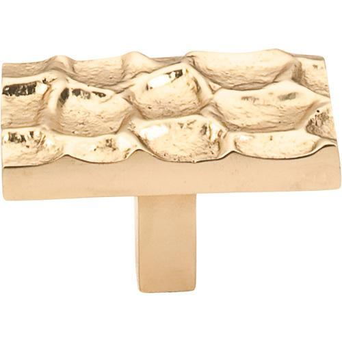 Top Knobs T-TK303BR Cobblestone Brass Rectangular Knob - KnobDepot.com