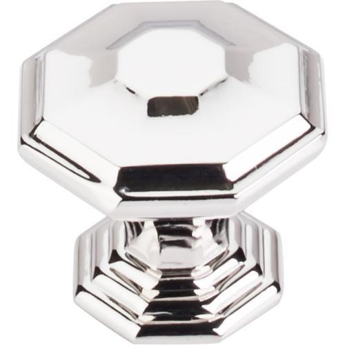 Top Knobs T-TK348PN Chareau Polished Nickel Octagon Knob - Knob Depot