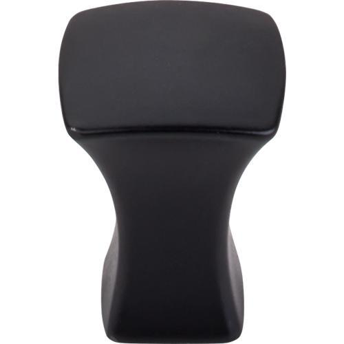 Top Knobs T-TK550BLK Mercer Flat Black Square Knob - Knob Depot
