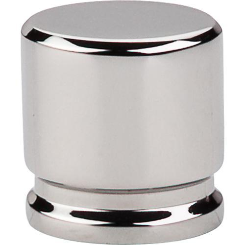 Top Knobs T-TK59PN Sanctuary Polished Nickel Oval Knob - KnobDepot.com