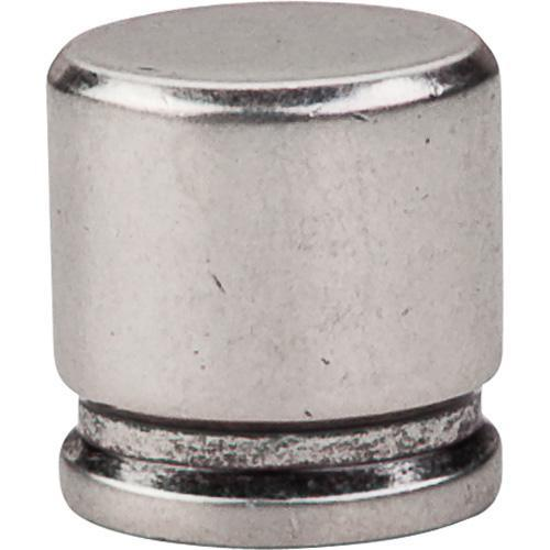 Top Knobs T-TK59PTA Sanctuary Pewter Antique Oval Knob - KnobDepot.com