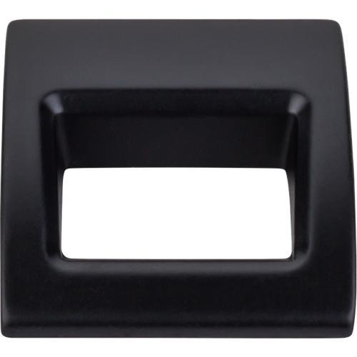 Top Knobs T-TK615BLK Mercer Flat Black Finger Pull - Knob Depot