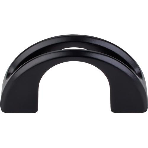 Top Knobs T-TK617BLK Mercer Flat Black Finger Pull - Knob Depot