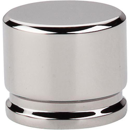Top Knobs T-TK61PN Sanctuary Polished Nickel Oval Knob - KnobDepot.com