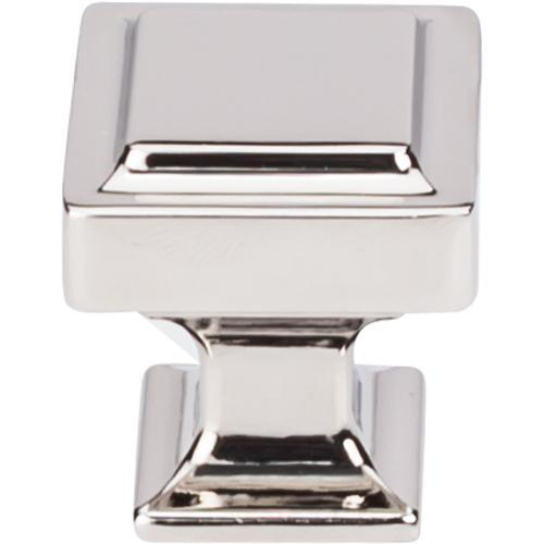Top Knobs T-TK701PN Transcend Polished Nickel Square Knob - Knob Depot