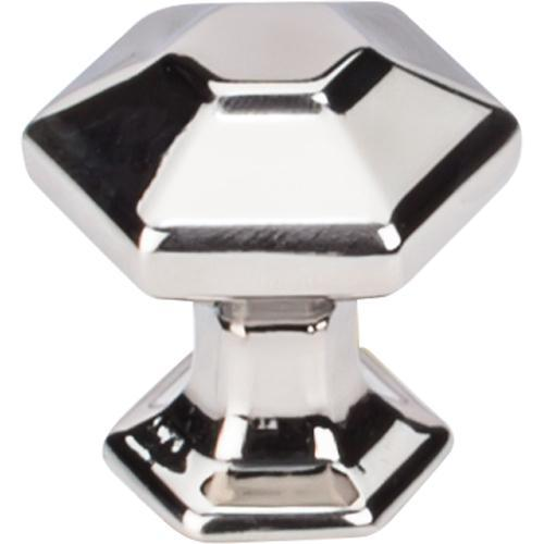 Top Knobs T-TK711PN Transcend Polished Nickel Hexagon Hexagon Knob - KnobDepot.com