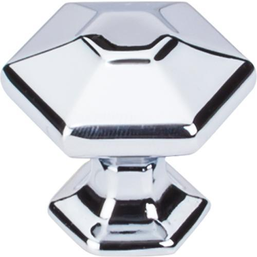 Top Knobs T-TK712PC Transcend Polished Chrome Hexagon Hexagon Knob - KnobDepot.com