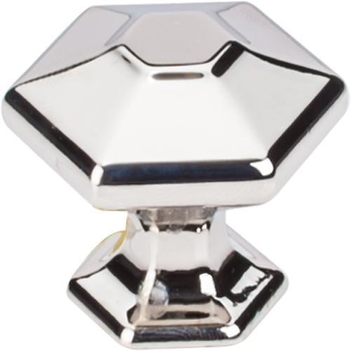 Top Knobs T-TK712PN Transcend Polished Nickel Hexagon Hexagon Knob - KnobDepot.com