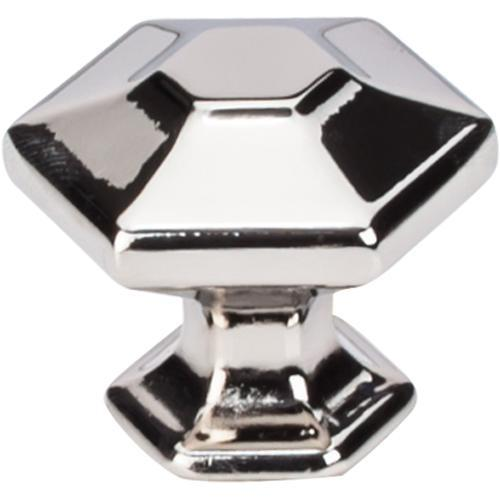 Top Knobs T-TK713PN Transcend Polished Nickel Hexagon Hexagon Knob - KnobDepot.com